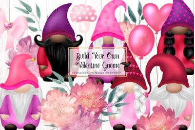 Valentine Gnomes Clipart