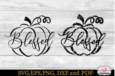 Blessed Pumpkin SVG, Fall SVG, Autumn SVG,Thanksgiving SVG