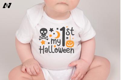 My 1st Halloween Svg, Halloween Svg, Baby First Halloween