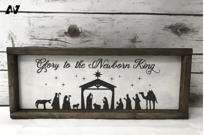 Nativity Svg, Glory to the Newborn King Svg, Christmas Svg