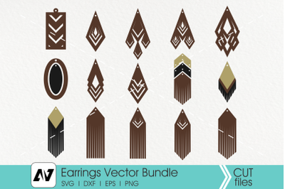 Earring Svg, Leather Earrings Svg, Earring Template Svg