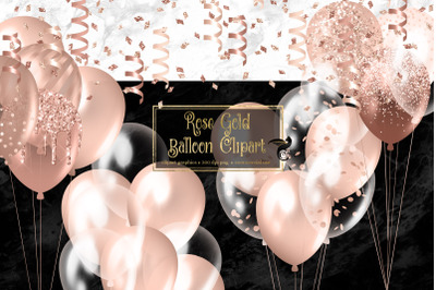 Rose Gold Balloons Clipart