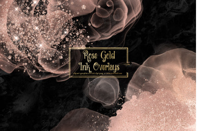 Rose Gold Ink Overlays