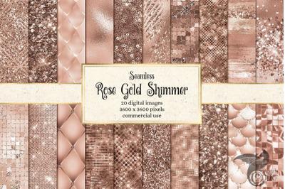 Rose Gold Shimmer Digital Paper