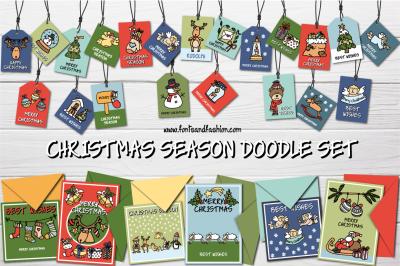 Christmas Season Doodle Set