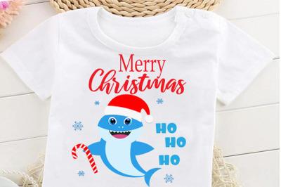 Christmas Shark SVG, Cut Files, Merry Christmas Svg, Baby shark Svg, b
