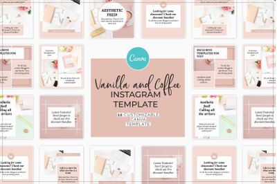 Vanilla and Coffee Instagram Canva Template