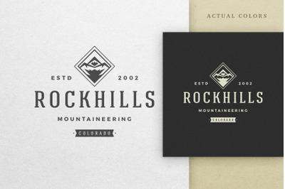 Stylish Logo for Mountaineering Club