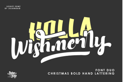Holla Wishmerry Font Duo