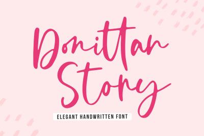Donittan Story - Elegant Handwritten Font