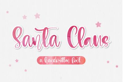 Santa Claus - A handwritten script font