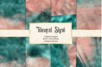 Tranquil Shore Digital Paper
