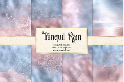 Tranquil Rain Digital Paper