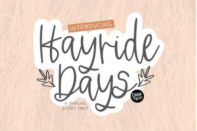 HAYRIDE DAYS Script Font