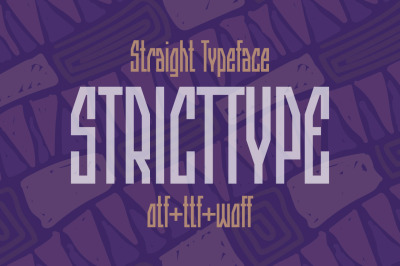 Stricttype font