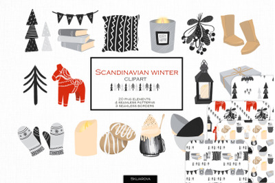 Scandinavian winter clipart