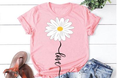 Daisy flower LOVE SVG, daisy svg, clipart, daisy cut file, daisy cricu