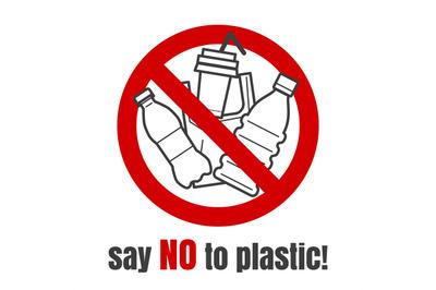 No plastic sign