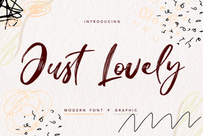 Just Lovely - modern font