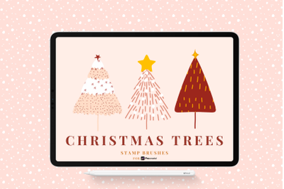 Christmas Tree Stamp Brushes for Procreate