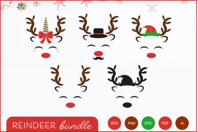 Reindeer face SVG, PNG, PDF, EPS, AI