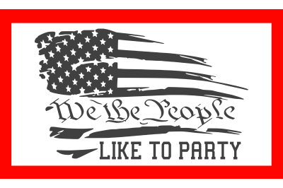 We The People Like To Party SVG PNG DXF EPS Cut Files