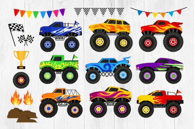 Monster Trucks Clipart, Big Trucks PNG