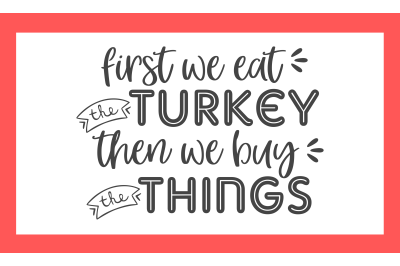 Thanksgiving Turkey SVG PNG DXF EPS Cut Files
