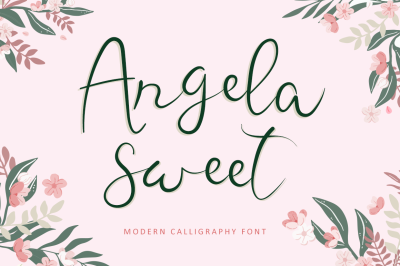 Angela Sweet - Beautiful Calligraphy Font