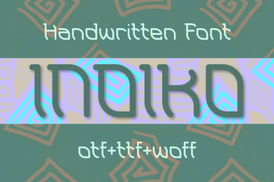 Indiko font