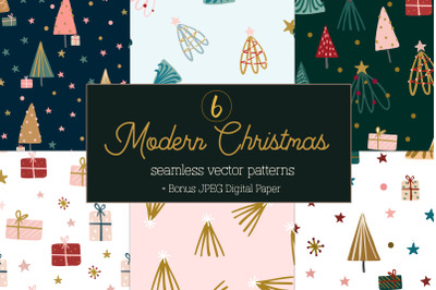 Modern Christmas pattern collection