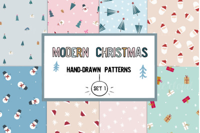 Cute modern Christmas patterns