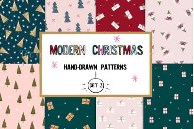 Modern Christmas patterns set 3