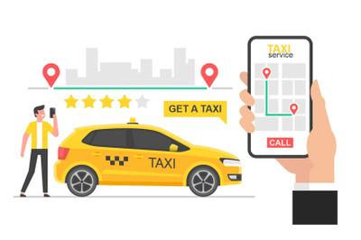 Online taxi concept