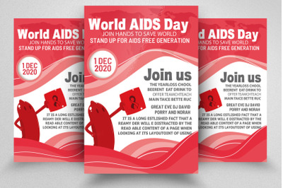World Aids Day Awareness Flyer
