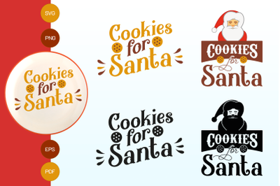 Cookies for santa SVG, EPS, PNG, AI, PDF