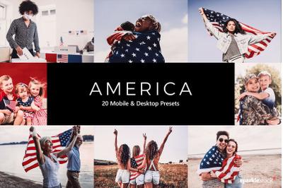 20 America Lightroom Presets & LUTs