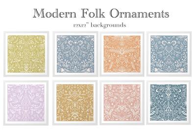 Modern folk ornament backgrounds
