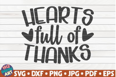 Hearts full of thanks SVG   Thanksgiving Quote