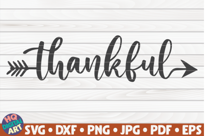 Thankful SVG   Thanksgiving Quote