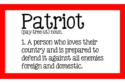 Patriot Definition USA Trump 2020 SVG PNG DXF