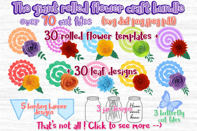 Paper flowers svg, Rolled Flower svg, 3d flower svg