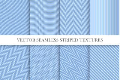Blue striped seamless patterns