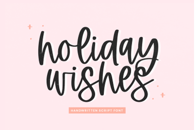 Holiday Wishes - Modern Script Font