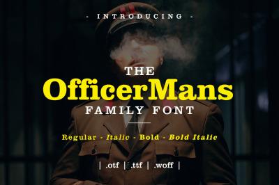 Officer Mans Family Font