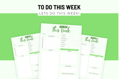 To Do This Week Printable