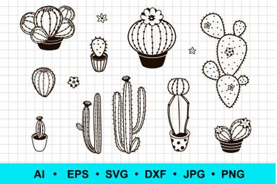 Cactus silhouette clipart