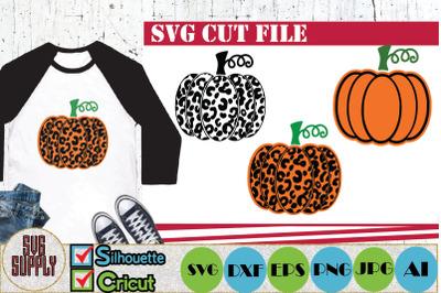Leopard Pumpkin SVG Cut File