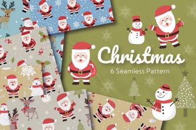 Christmas Santa Seamless Pattern
