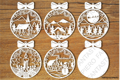 Baubles, Christmas Balls SVG files for Silhouette Cameo and Cricut.